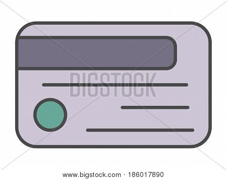 Access card pictogram isolated on white background vector illustration. Business protection, security monitoring, access control icon