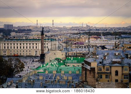 Cityscape Of Saint Petersburg In Russia