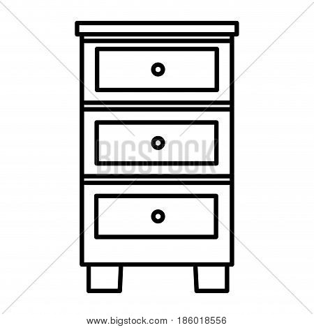 wood drawer isolated icon vector illustration design