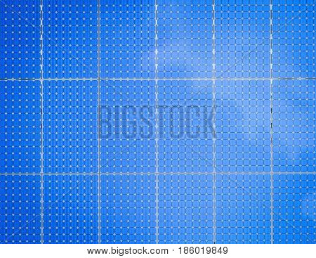 3d rendering blue solar panel or solar cell background