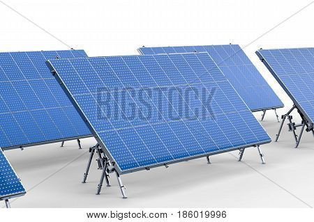 Solar Panel On White Background