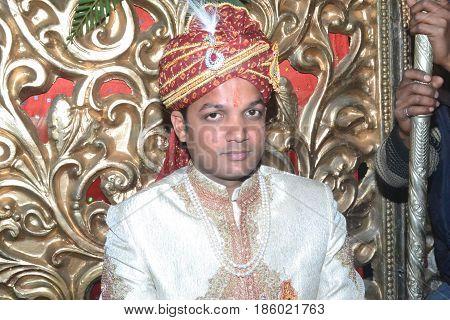 Bridegroom wear Sherwani in Traditional Indian Wedding