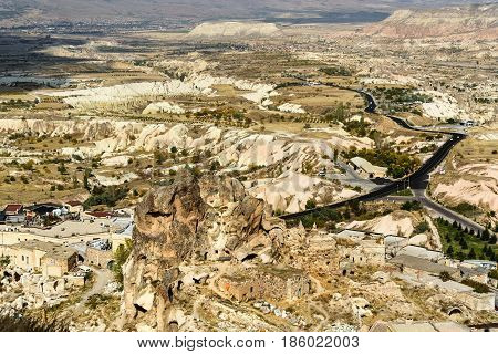 Top View From Uchisar Castle. Cappadocia. Turkey