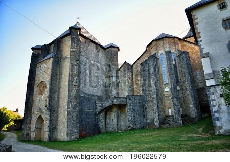 Royal Collegiate Church of Roncesvalles Navarre Spain St James way start point, Camino de Santiago