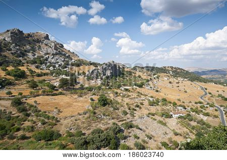 Views of Grazalema Natural Park from Grazalema town, Cadiz, Andalusia, Spain