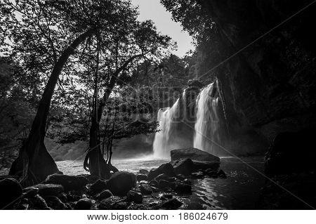 Haewsuwat waterfall at Khao Yai National Park Thailand.(The World Heritage of nature)