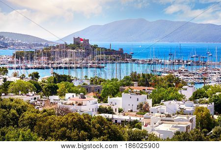 Bodrum Castle And Aegean Sea