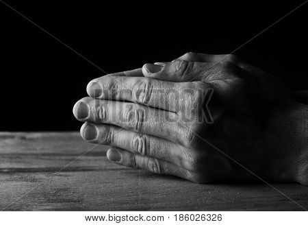 Hands Folded For Prayer
