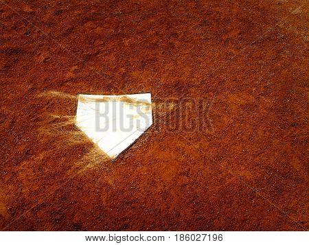 Home plate for baseball field team sports
