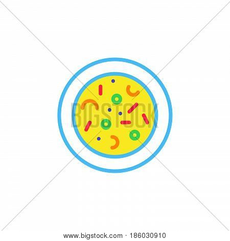 Microbes. Agar plate with bacterial colonies line icon outline vector logo illustration linear colorful pictogram isolated on white