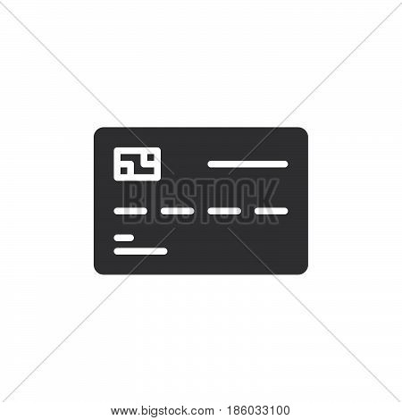 Smart card icon vector filled flat sign solid pictogram isolated on white. Symbol logo illustration. Pixel perfect