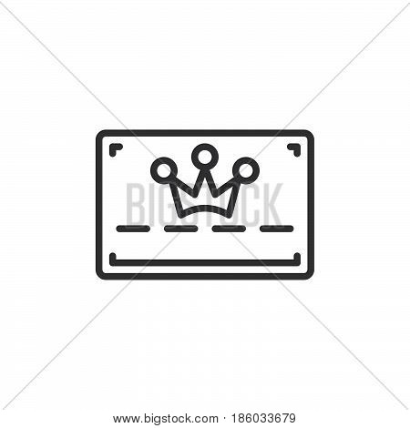 loyalty card line icon outline vector sign linear style pictogram isolated on white. Symbol logo illustration. Editable stroke. Pixel perfect