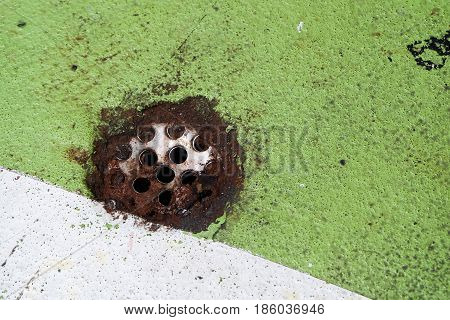 rusty old drain dirty concept texture background