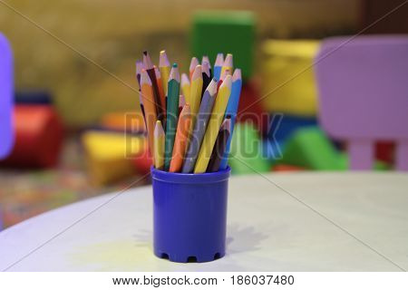 Assortment Of Colored Pencils Colored Drawing Pencils Colored Drawing Pencils In A Variety Of Colors