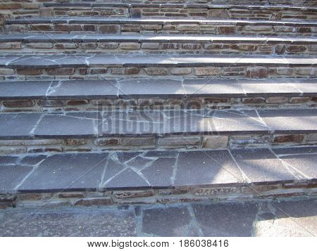 Steps made of stone, stairs leading upwards
