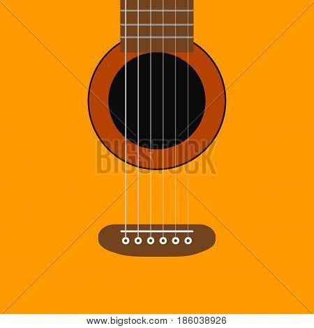 Guitar background. music concept. vector illustration. acoustic