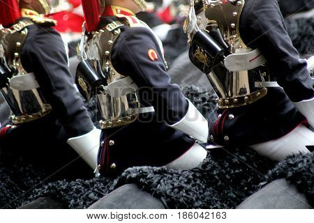 The Household Cavalry Mounted Regiment During Trooping of The Colour London England