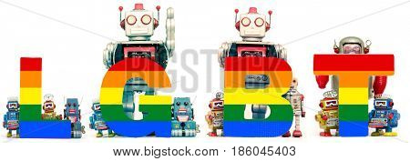 LGBT gay happpy robots