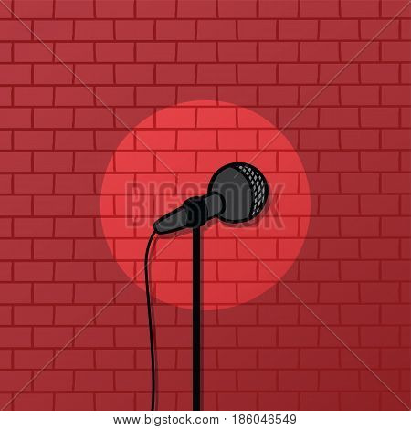 Red Brick Spotlight Stand Up Comedy Stage