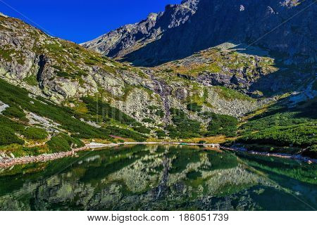 High Tatra mountains in Slovakia landscape with lake