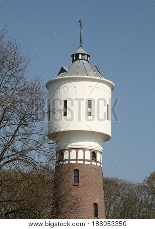 Watertower from 1914 and 32 meters high in Coevorden. The Netherlands