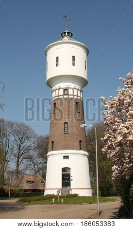 Water tower from 1914 and 32 meters high in Coevorden. The Netherlands
