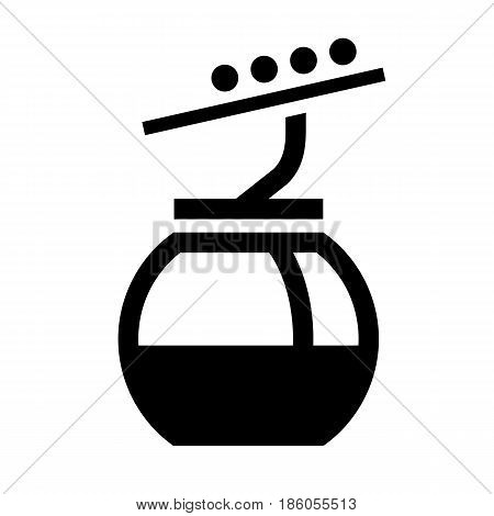 cableway, icon isolated on white background flat style