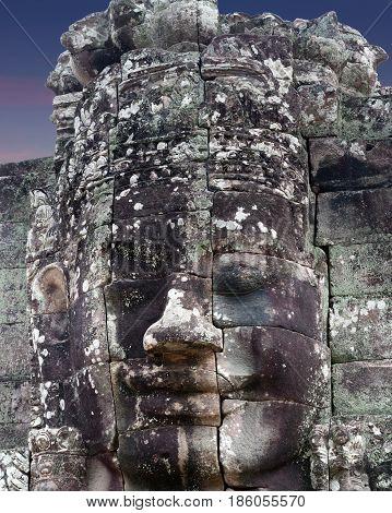 Prasat Bayon Temple In Angkor Thom, Cambodia