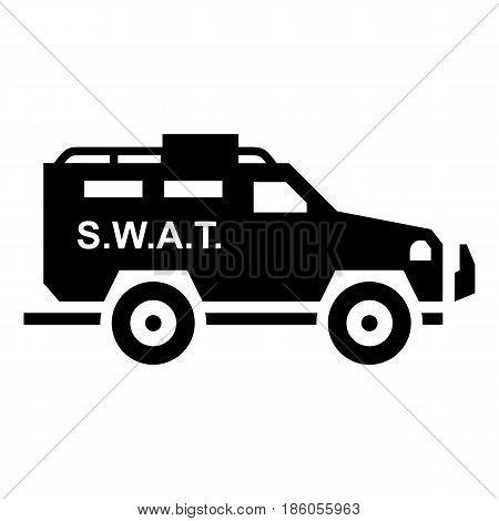 SWAT icon isolated on white background flat style