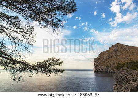View to the sea at torrent de Pareis Mallorca