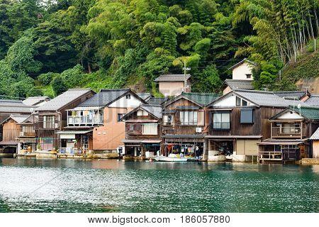 Water House of Ine Cho in Japan