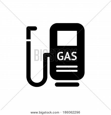 gasoline,  icon isolated on white background flat style.