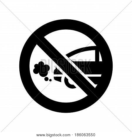 Sign fumes of cars, icon isolated on white background flat style.