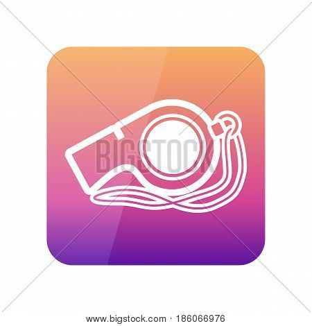 Whistle outline vector icon. Beach. Summer. Summertime. Vacation eps 10