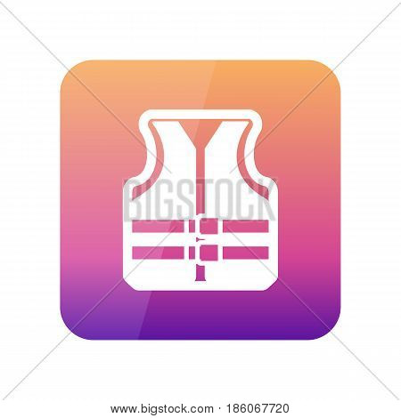 Life jacket outline vector icon. Beach. Summer. Summertime. Vacation eps 10