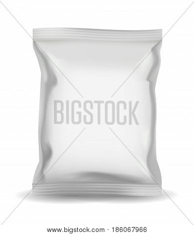 Blank snack bag packaging for food Illustration Isolated