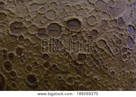 Moon satellite craters, planet space layout 1