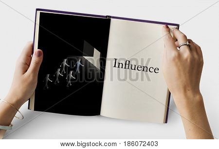 Colleagues Corporate Influence Achievement Leadership Teamwork Graphic