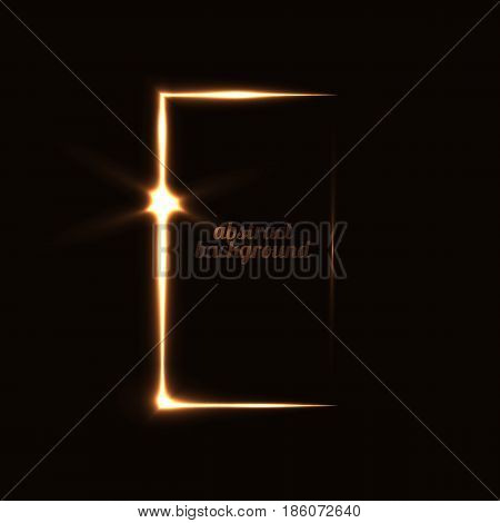 Vector illustration abstract background with a mysterious door