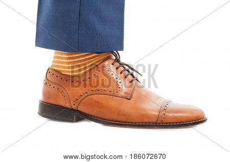 Fashionable Business Man Foot In Closeup
