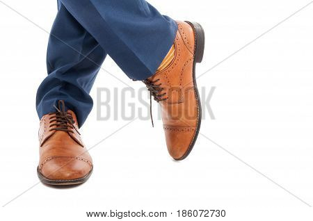 Closeup Of Stylish Male With Elegant Shoes