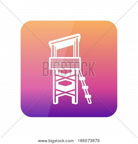 Lifeguard tower outline vector icon. Beach. Summer. Summertime. Vacation eps 10