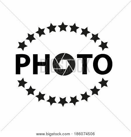 Icon and logo for photographer with asterisks and aperture.