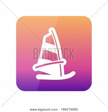 Board Windsurfing outline vector icon. Beach. Summer. Summertime. Holiday. Vacation eps 10