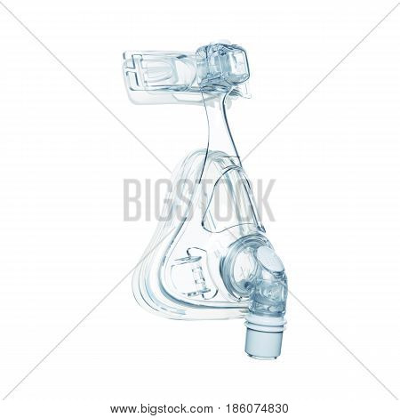 Medical Full Face Oxygen Mask Isolated On White Background. Continuous Positive Airway Pressure (cpa