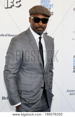 Idris Elba at the 2016 Film Independent Spirit Awards held at the Santa Monica Beach in Santa Monica, USA on February 27, 2016.