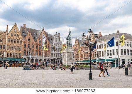 Markt Square In Brugge
