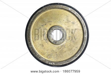 Gym Equipment, Barbell Disk Isolated On White