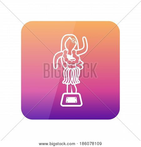 Hula Dancer Statuette outline vector icon. Summer. Summertime. Holiday. Vacation eps 10