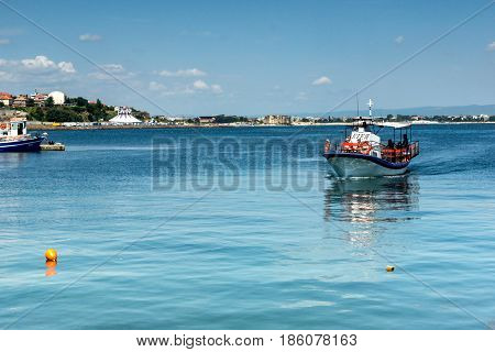NESSEBAR, BULGARIA - 30 JULY 2014: Port of town of Nessebar, Burgas Region, Bulgaria